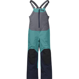 Bergans Ruffen Insulated Salopette Kids, greenlake/navy